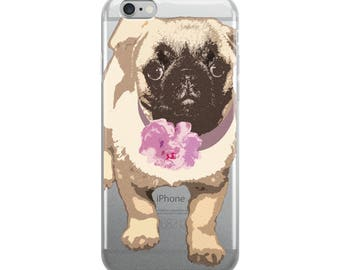 Phone Case / iPhone Case / Pug Dog iPhone Case / iPhone X / iPhone 8 / iPhone 7 / 8 Plus / 7 Plus / Pug Dog Phone Case / Christmas Gift
