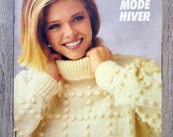 Phildar magazine stitches 111 - winter fashion (vintage knit)