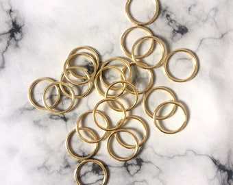 "15mm (5/8"") Gold Metal Rings for Bra Strap Camisole Lingerie Making"