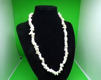 aghata stone cream necklace