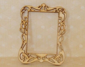wood frame 11 clear small size for scrapbooking
