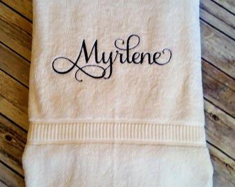 Personalized Bath Sheet, Bath Towel, Monogram, Wedding, Shower, Gift,