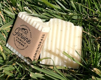 "Lemongrass soap - the ""Healing"" soap - hand crafted Coconut Oil Bar - 3oz."