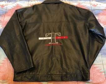 Leather Tommy Bootleg Jacket