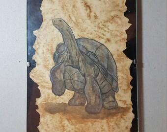 Figurines tortue terrestre et son b b en perles de rocailles for Bibelot decoration maison