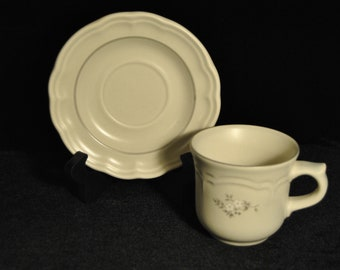 Pfaltzgraff Heirloom Pattern Cup and Saucer