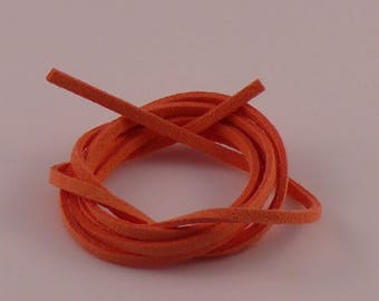 Coral 3mm suede cord x 1.5 mm