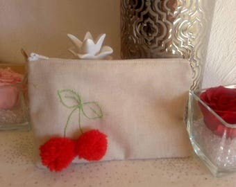 hand embroidery cherry Kit