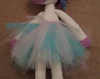 "Unicorn (approx 18""/46cm long) I can make to suit most colour requests"