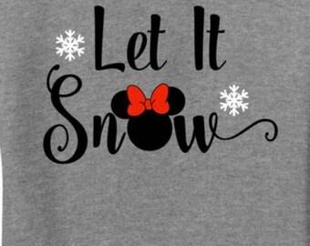 Let it snow disney shirt