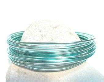 clear 2mm blue aluminum wire