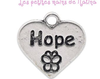 """Hope"" heart Charms pendant"