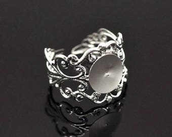 Support ring adjustable silver Ajoure 3