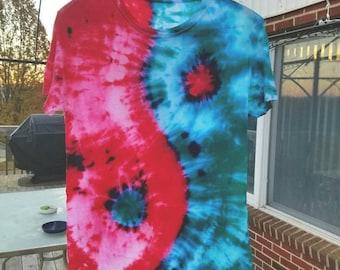 Hand Dyed Tie Dye Yin Yang