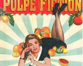 "233 - napkin retro ""pulp fiction"""