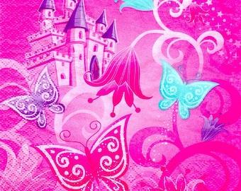 2 Castle Princess (279) paper napkins