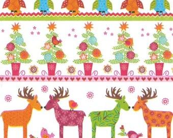 Christmas tree and reindeer Christmas paper napkin (356)