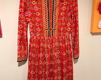 Oscar de la Renta boutique - late 60's printed dress -Price Reduced