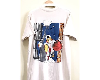 20% SALE!! Vintage 1990s Fruit of the Loom Basketball T-Shirt Shirt Made in USA