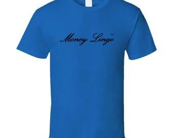 Money Lingo Royal Blue T Shirt