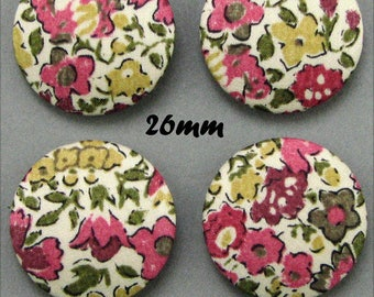 Buttons covered with Liberty - A Dora - 26mm - (22-26)