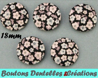 Buttons covered with Liberty - A Penny - 18mm - (18-64)