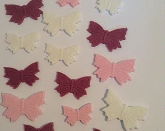 18 Edible Sugar Paste Fondant Butterfly Cake Toppers