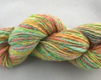 Pastel multi colored wool yarn
