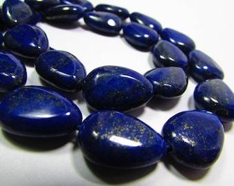 5 beads of Lapis Lazuli semi-precious stone