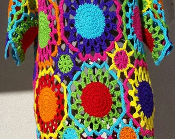 Colorful Crochet Dress