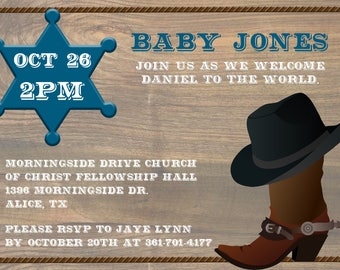 Baby Boy, Baby Shower Cowboy, Cowboy Theme, Baby Shower
