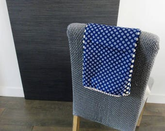 Women scarf - Printed Bi-color blue / dots