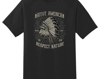 Native American Indian Chief tee shirt 08012016
