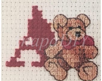 PDF Cross-Stitch Alphabet Bears