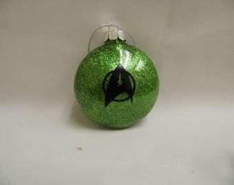 """Star Trek Starfleet Insignia Custom Christmas Ornament- 3"""" Flat Plastic"""