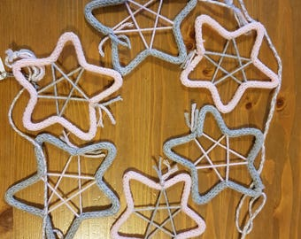 Knitting stars Garland