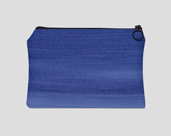 Indigo Paint Strokes Carry All Pouch