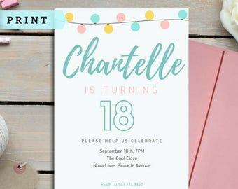 BIRTHDAY INVITATION! Female Birthday Party Invitation, Female Invites, Birthday Invitations and Cards