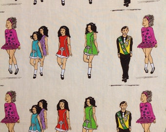 Irish dancing fabric