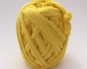 Tshirt Yarn | Cotton Yarn | Zpagetti Yarn | Trapillo | Jersey Yarn | Bright Yellow
