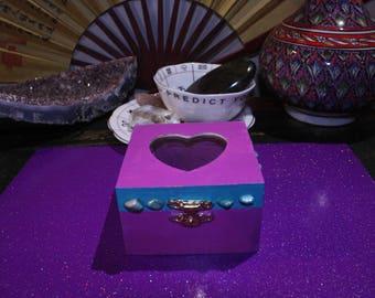 Heart Shaped Amethyst Amazonite Trinket Box Gift Set