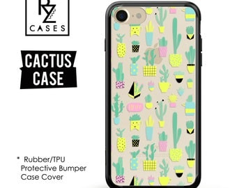 Cactus Phone Case, Cactus iPhone Case, Cactus Case, Cacti, iPhone 7, Gift for Her, iPhone 7 Plus, iPhone 6S,Rubber, Bumper Case