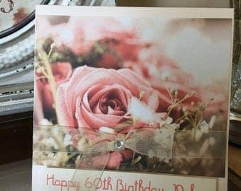 BIRTHDAY Feminine St. Thérèse Roses Greeting Card