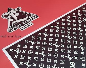 LV Supreme Logo Pattern Stencil