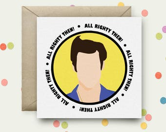 Ace Ventura Square Pop Art Card & Envelope