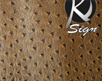 Faux leather ostrich Brown 70 x 100 cm