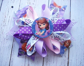 Sofia Princess Hair Bow Princess Sofia Party Disney Princess Bow Sofia Party Hair Bows  Princess Sofia Dress Loopy Hairbow