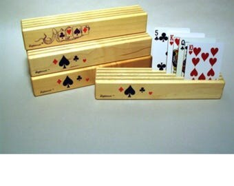 Set of four card holders