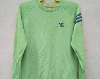 Vintage Adidas Trefoil Crewneck Sweatshirt Big Logo Spell out