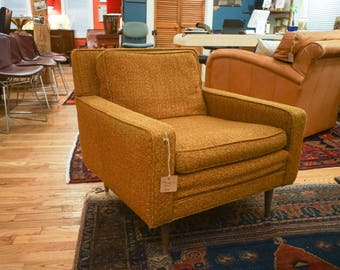 Mid Cenury Danish Club Chair with Teak Legs